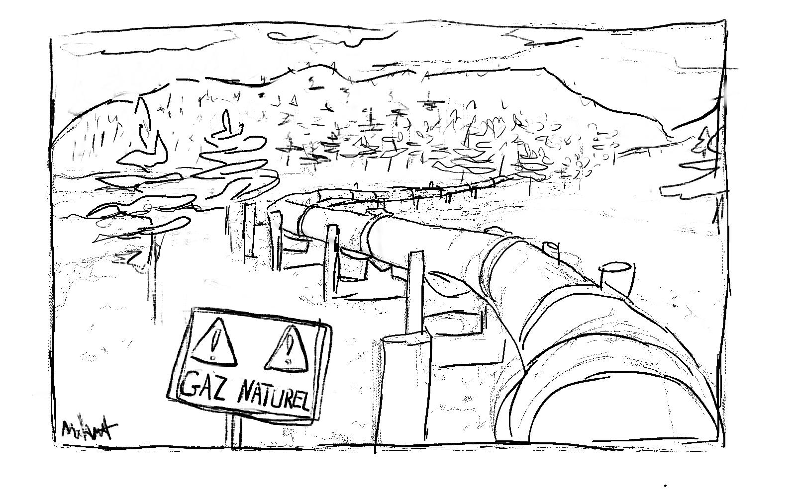 pipeline GNL Mahaut