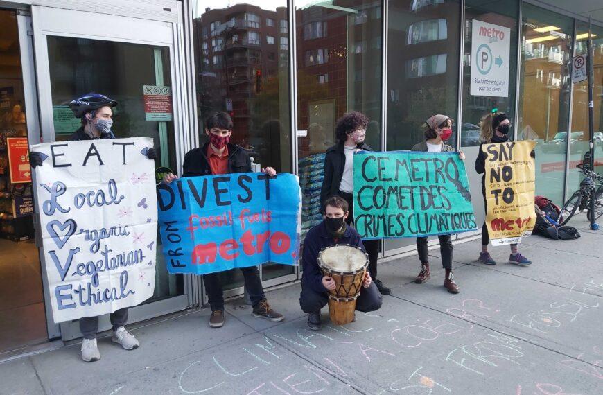 Désinvestissement McGill appelle à boycotter Metro